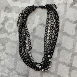 Bebe Layer Black Necklace